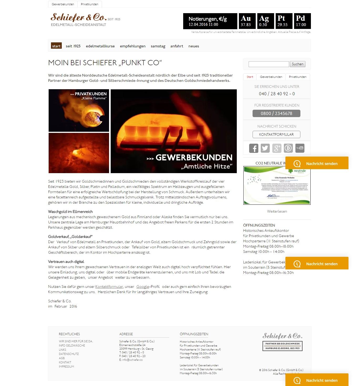 Schiefer & Co. Die älteste Norddeutsche Edelmetall-Scheideanstalt nördlich der Elbe
